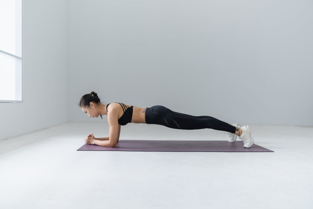 Planken træningsøvelse